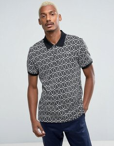 Read more about Huf knitted polo with embroidered logo - black