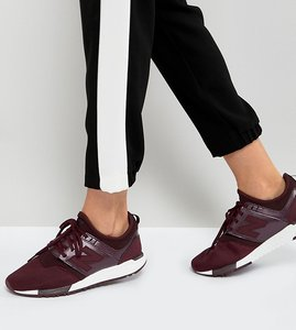 Read more about New balance 247 trainers in burgundy - red