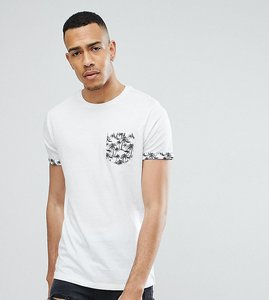 Read more about Brave soul tall palm tree pocket t-shirt - white