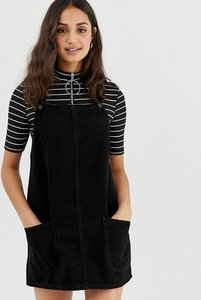 Read more about New look denim pinny dress - black