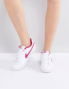 Read more about Nike court royale trainers in white red - white