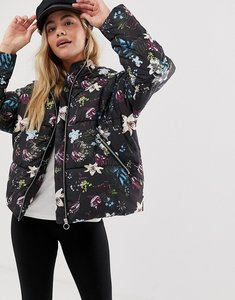 Read more about Only aya floral padded jacket with hood