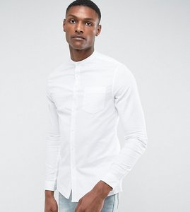 Read more about Asos tall skinny oxford shirt in white - white