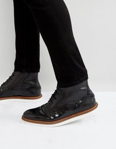 Read more about House of hounds avon leather lace up boots in black - black