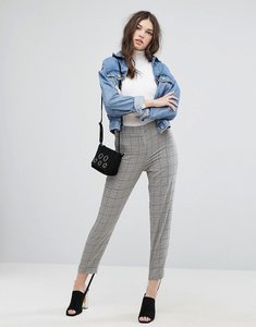 Read more about Asos tailored herritage houndstooth pant with stirrup - check