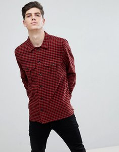 Read more about Mango man regular fit check flannel shirt in red - red
