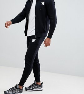 Read more about Good for nothing muscle joggers in black with script logo exclusive to asos - black