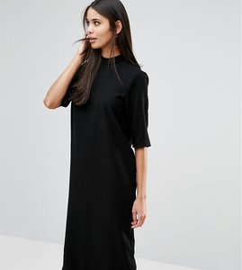 Read more about Asos tall high neck midi column dress - black