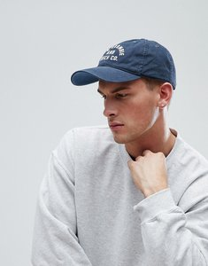 Read more about Abercrombie fitch logo twill baseball cap in navy logo - navy logo