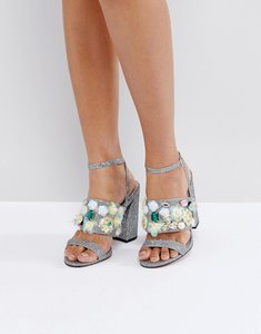 Read more about Asos holla embellished high heels - silver