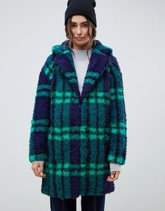 Read more about Asos design check borg coat - multi