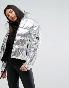 Read more about Puffa original oversized jacket in metallic silver - silver