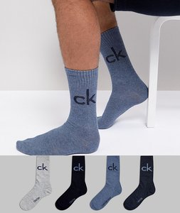 Read more about Calvin klein socks 4 pack with travel pouch - multi