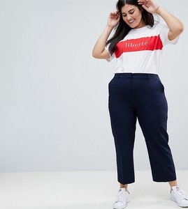 Read more about Asos curve cigarette trouser in crop length - dark navy