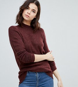 Read more about Y a s tall knitted jumper - brown