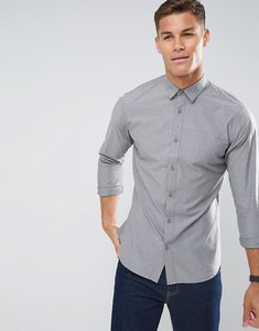 Read more about Selected homme regular fit shirt in texture cotton with cutaway collar - smoked pearl