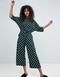 Read more about Monki fan print jumpsuit - palm print