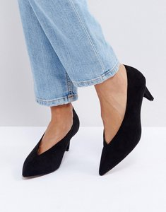 Read more about Asos strike mid heels - black