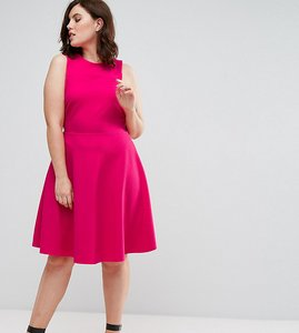 Read more about Pink clove skater dress - hot pink