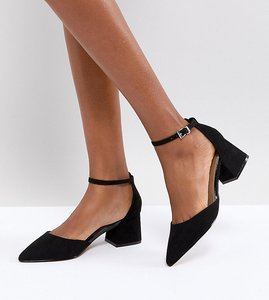 Read more about Asos starling pointed heels - black mix