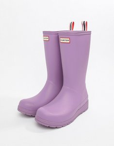 Read more about Hunter original play pink tall wellington boots - thistle