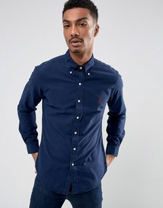 Read more about Polo ralph lauren slim fit shirt garment dye buttondown in navy - windsor navy