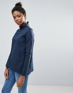 Read more about Vila high neck clean blouse - navy