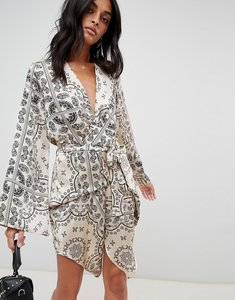 Read more about Love other things paisly print wrap dress - cream