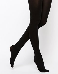 Read more about Asos 120 denier tights with bum tum thigh support - black