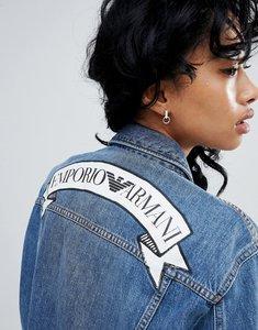 Read more about Emporio armani statement banner logo denim jacket - 0941 denim blu