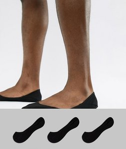 Read more about Polo ralph lauren 3 pack no show socks in black - black