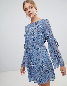 Read more about Glamorous floral skater dress - dusty blue floral pr