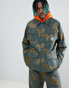Read more about Billionaire boys club camo patch print jacket in green - green