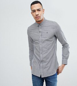 Read more about French connection tall slim fit gingham shirt - navy