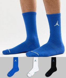 Read more about Nike jordan jumpman 3 pack crew socks in multi sx5545-023 - multi