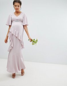 6a7c0e9d7a From Virgos lounge tall. NEW IN. Read more about Asos design maternity  ruffle flutter sleeve maxi dress with embellished belt