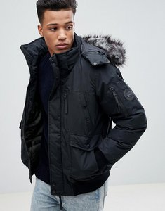 Read more about Celio short parka with faux fur hood - noir