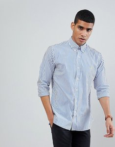 Read more about Polo ralph lauren stripe slim fit poplin shirt polo player in blue - blue