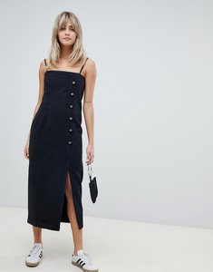 Read more about Asos design button side midi denim dress in washed black