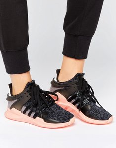 Read more about Adidas originals black eqt support trainers - core black