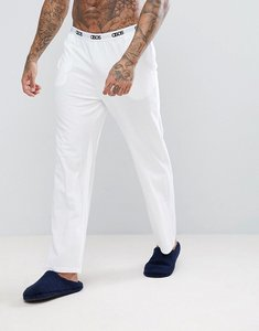Read more about Asos straight leg jersey pyjama bottom with branded waistband - white