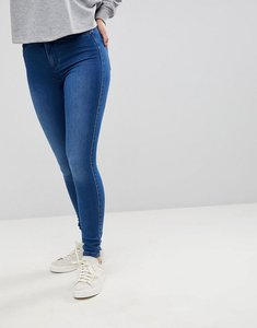 Read more about Only skinny jeans with high waist - medium blue