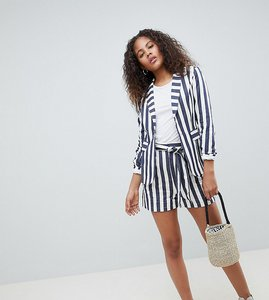 Read more about Glamorous tall tailored shorts in bold stripe co-ord - multi stripe