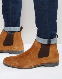 Read more about Red tape chelsea boots tan suede - tan