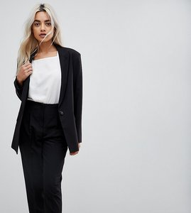 Read more about Asos petite mix match boyfriend blazer - black