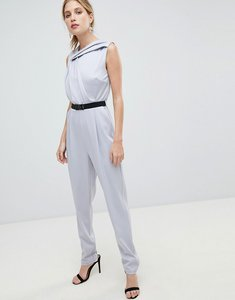 Read more about Little mistress belted tailored jumpsuit - grey