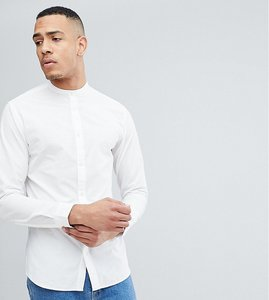 Read more about Selected homme tall slim grandad shirt - white