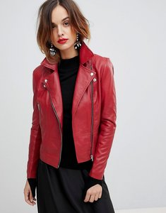 Read more about Y a s leather biker jacket - red