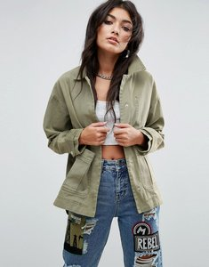 Read more about Asos washed jacket - khaki