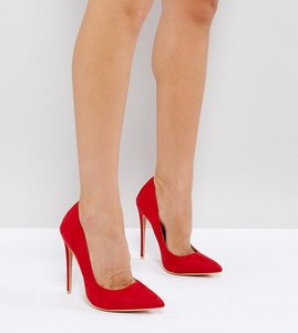 Read more about Lost ink wide fit red high court shoes - red